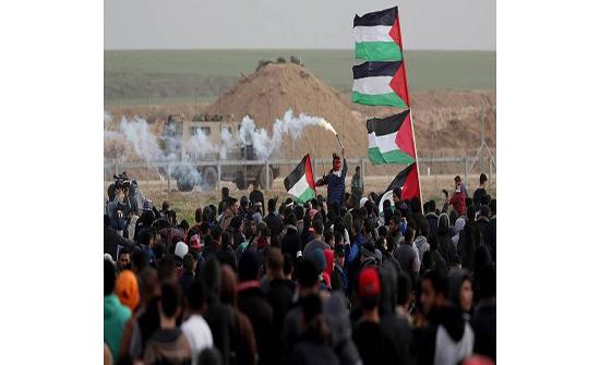 غزة: 6 جرحى جراء اعتداء الاحتلال على مسيرات العودة
