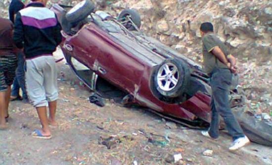 صور : 3 وفيات وإصابة آخر اثر حادث تدهور في عنجرة
