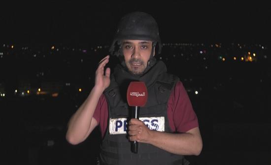 """إخلاء برج يقع فيه مكتب """"المملكة"""" في مدينة غزة بعد تحذير بقصفه"""