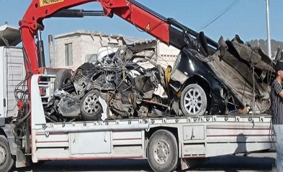 صور  :4 حوادث سير على طريق اربد – عمان
