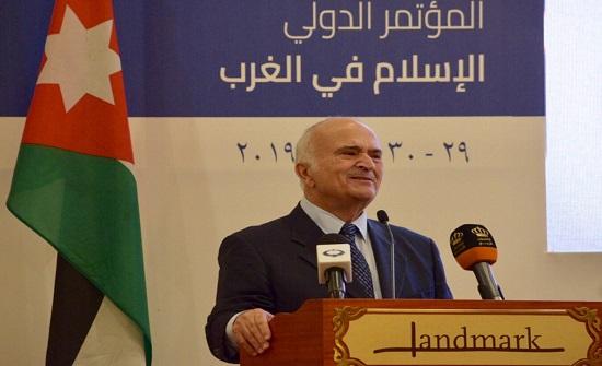 """الأمير الحسن يفتتح أعمال المؤتمر الدولي """"الإسلام في الغرب"""""""