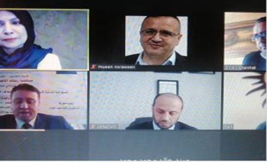 """مناقشة رسالة الماجستير رقم (54) عن بعد في """"عمان العربية"""""""