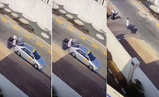 بالفيديو.. خادمة تسرق مكفوليها وتهرب المسروقات في القمامة في دولة عربية