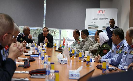 الحسين التقنية تستضيف وفدا من القوات المسلحة الأردنية والأجهزة الأمنية