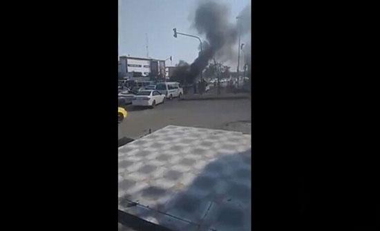 بالفيديو : متظاهرون في محافظة ذي قار يحرقون الإطارات ويقطعون جسر البهو