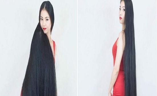 يابانية لم تقص شعرها منذ 15 عاما (صور)