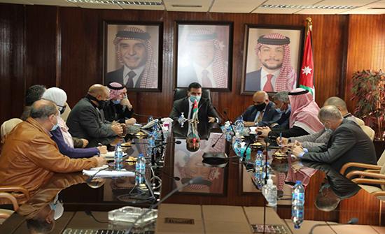 وزير المياه يبحث مطالب محافظة معان