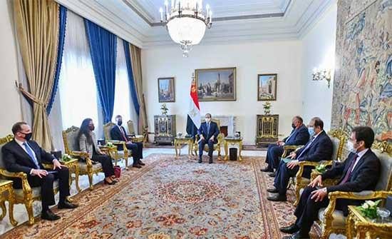 الرئاسة المصرية تعلن تفاصيل مباحثات السيسي ومستشار الأمن القومي الأمريكي