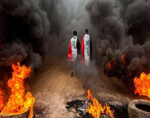 """متظاهرو البصرة يحاصرون مواقع نفطية """"استراتيجية"""""""