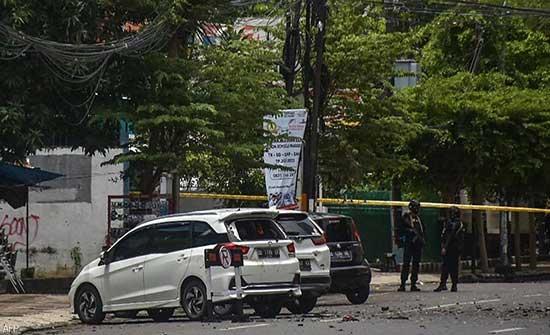 مقتل منفذي الهجوم على الكنيسة في إندونيسيا .. ولحظة التفجير (بالفيديو)