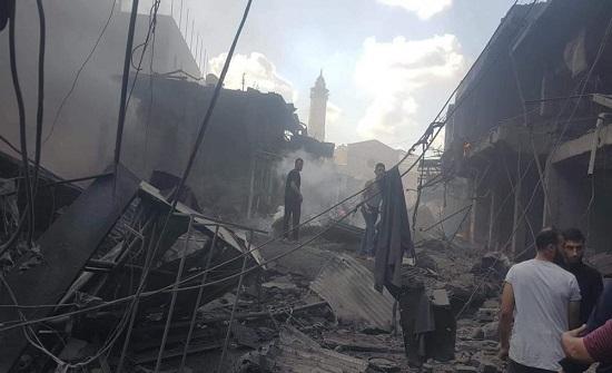 اصابات ودمار جراء انفجار في مدينة غزة