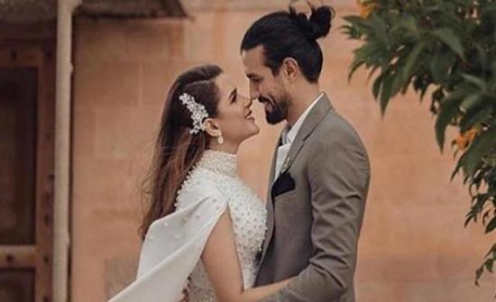 شيما صابر تعلن حملها من لاعب كرة القدم رامي صبري (صور)