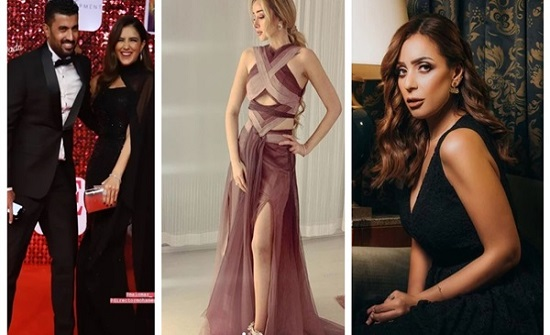 شاهد : أبرزهن مى عمر وهنا الزاهد.. نجمات تتألقن بفساتين ساحرة