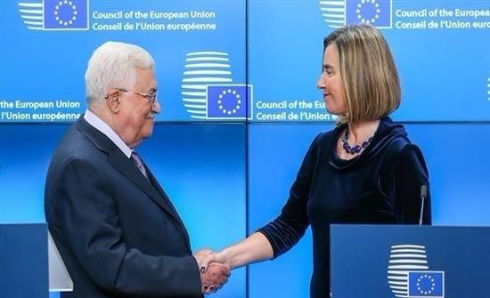 الخارجية الفلسطينية: عباس اقترح على الاتحاد الأوروبي بدائل لاحتكار واشنطن رعاية السلام