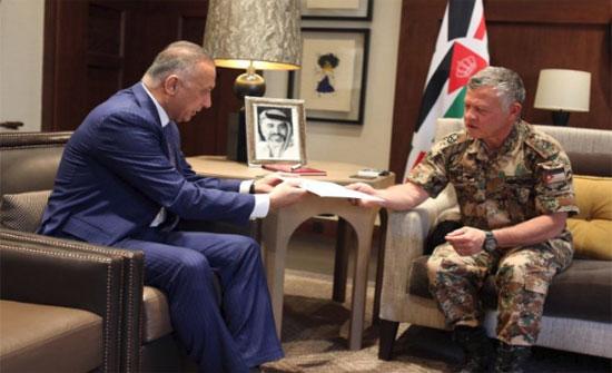 الملك يستقبل المبعوث الخاص لرئيس الوزراء العراقي