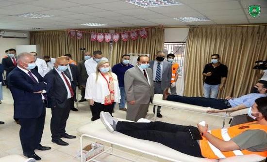 حملة للتبرع بالدم في الجامعة الأردنية نصرة للأشقاء في فلسطين