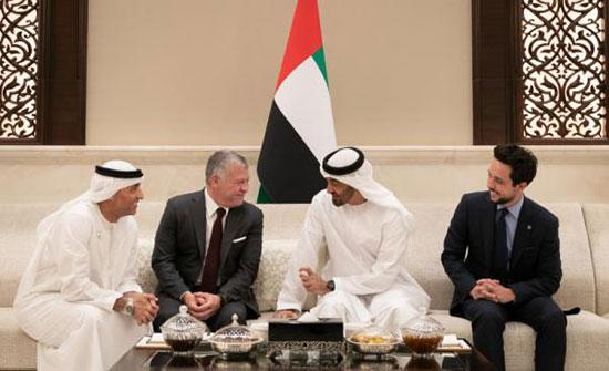 الملك وولي عهد أبو ظبي يؤكدان اعتزازهما بمستوى العلاقات المتينة الأردنية الإماراتية