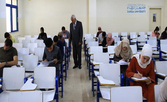 رئيس جامعة الزرقاء بالوكالة يتفقد قاعات الامتحانات النهائية