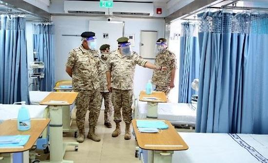 افتتاح المستشفى الميداني العسكري المخصص لمرضى كورونا