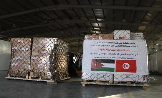 طائرة مساعدات إنسانية أردنية الى تونس