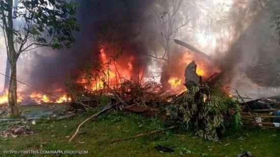 الخارجية تعزي بضحايا تحطم طائرة عسكرية بالفلبين