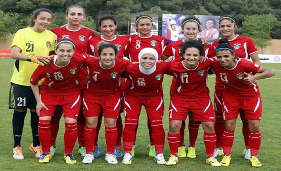 منتخب السيدات يفوز على فلسطين ويتأهل للدور نصف النهائي بكأس العرب