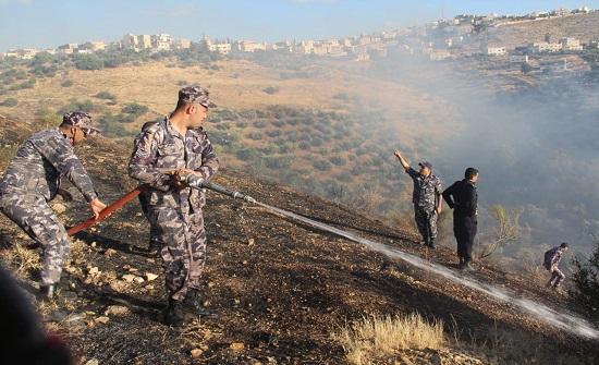 اربد :  حريق 1200 دونم في بلدة جفين