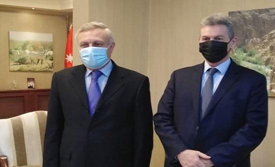 وزير البيئة يلتقي السفير الاسترالي لدى المملكة