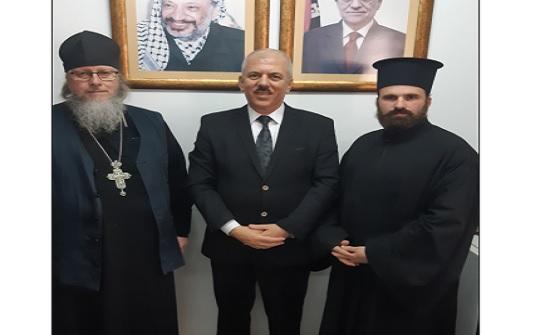 د. عيسى يستقبل رئيس البعثة الروسية الأرثوذكسية خارج روسيا الاتحادية