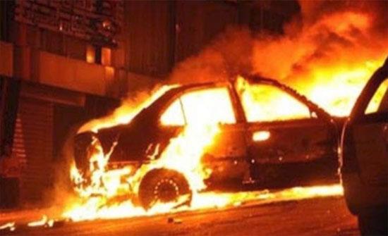 مجهولون يحرقون مركبتين في ماعين..والامن يحقق