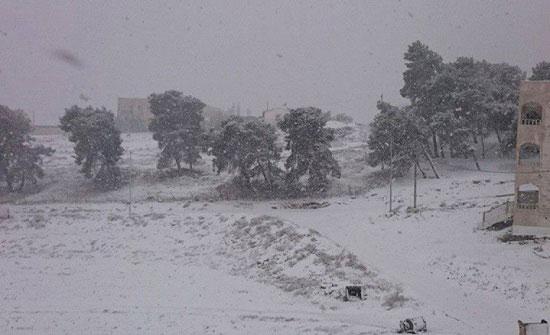 الطفيلة: تأمين 70 عاملة وسيّاح جراء تراكم الثلوج