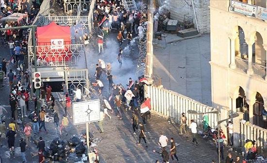 """مقتل 7 بإطلاق نار على متظاهرين في """"الحلة"""" العراقية"""
