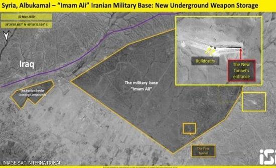 أنفاق لتخزين الأسلحة.. صور الأقمار تكشف خطة إيران شرقي سوريا