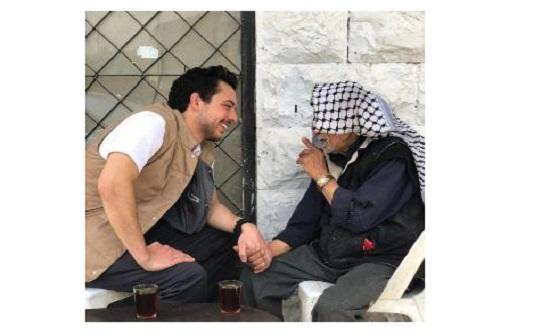 """الامير حسين يعزي بوفاة """" ابو يوسف الديرباني """""""