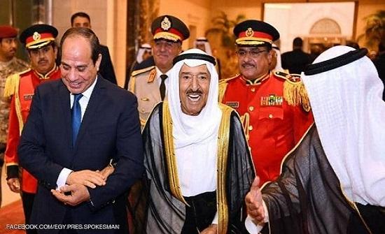 السيسي لأمير الكويت: أمن الخليج من أمن مصر
