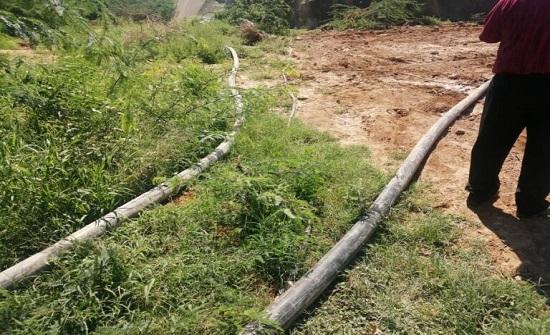ضبط اعتداءات على خط ناقل مياه الزارة ماعين