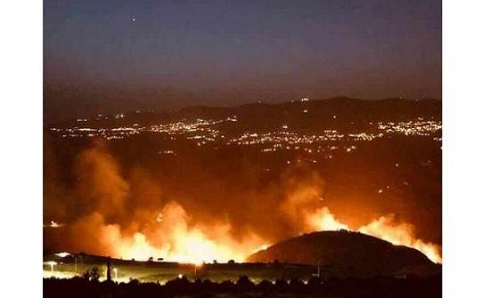حريق كبير في جرش والدفاع المدني يسيطر عليه