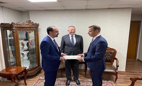 الخارجية: المجالي يقدم البراءة القنصلية قنصلا عاما في أربيل