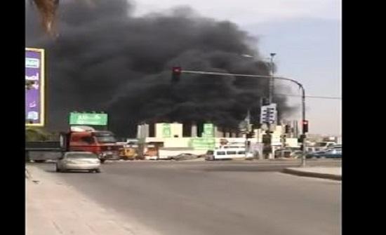 بالفيديو : حريق كبير في احد المحال التجارية الكبيرة في الزرقاء