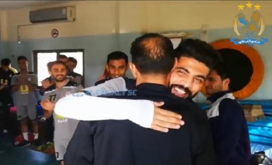 بالفيديو : لاعبو الفيصلي يستقبلون العوضات