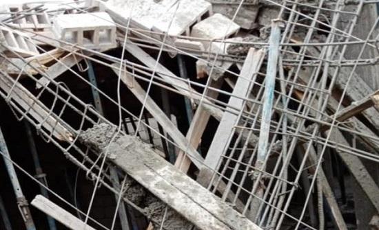 بالصور : انهيار  سقف منزل حديث الانشاء في جرش