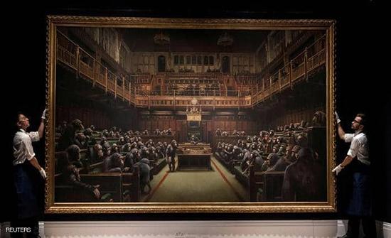 """لوحة لـ""""بانكسي"""" تباع مقابل 12 مليون دولار"""