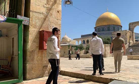 عشرات المستوطنين يقتحمون الأقصى وتقييدات على الفلسطينيين بساحاته .. بالفيديو