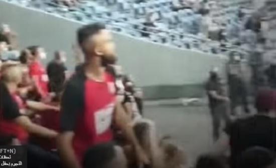 هتافات للقدس في مباراة مع فريق اسرائيلي داخل الخط الاخضر