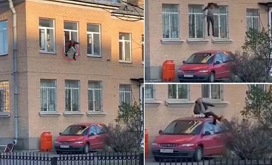 بالفيديو: لص روسي يسرق مدفأة من مركز للشرطة ويقفز مقيّداً من النافذة
