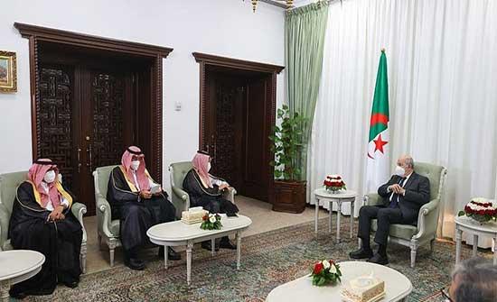 رسالة من الملك سلمان للرئيس الجزائري نقلها وزير الخارجية السعودي