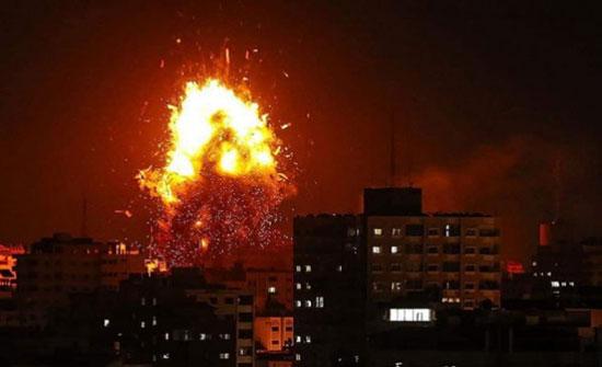 شاهد: قصف إسرائيلي يستهدف مناطق متفرقة من قطاع غزة