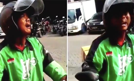 بالفيديو: سائق توصيل إندونيسي يبكي بحرقة شديدة بعد إلغاء طلب الزبون