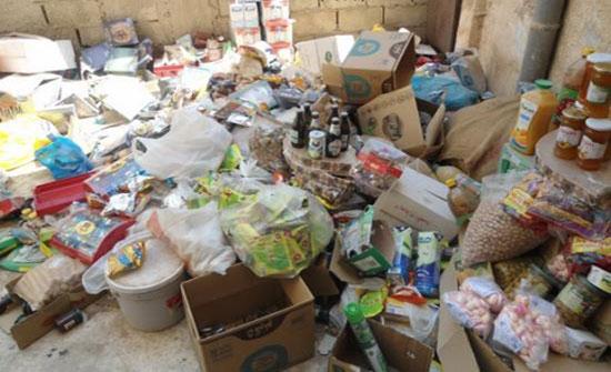 العقبة: إتلاف 3 اطنان مواد غذائية منتهية الصلاحية