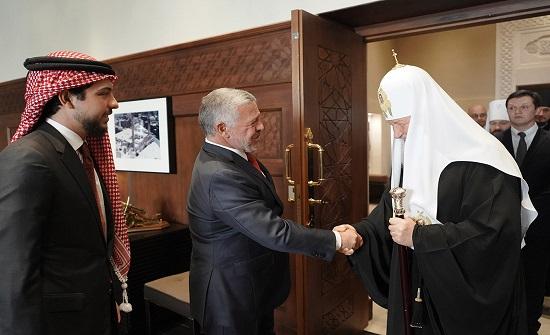 الملك يلتقي غبطة بطريرك موسكو وعموم روسيا